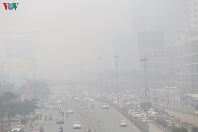 Ô nhiễm không khí ở mức có hại cho sức khỏe.