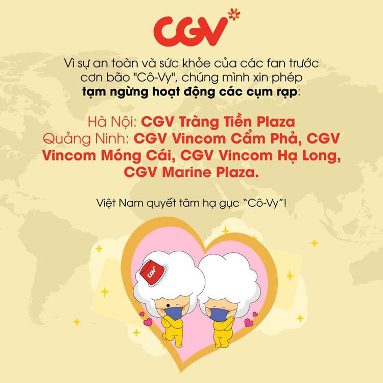 Hình ảnh được đăng tải trên trang fanpage của CGV Việt Nam.