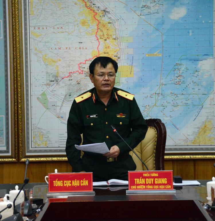 Thiếu tướng Trần Duy Giang - Chủ nhiệm Tổng cục Hậu cần (Ảnh: QĐND)