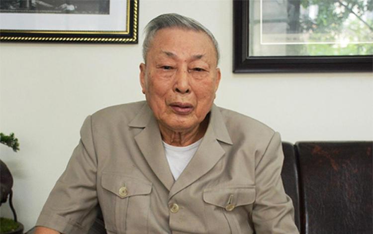 Trung tướng Đồng Sỹ Nguyên, nguyên Phó Chủ tịch Hội đồng Bộ trưởng, từ trần ngày 4/4/2019.