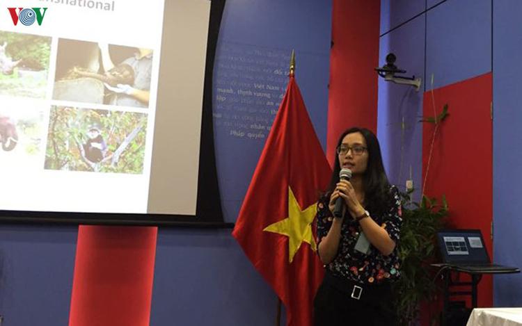 Bà Nguyễn Hương, Giám đốc truyền thông của Tổ chức bảo tồn động thực vật hoang dã (WCS).