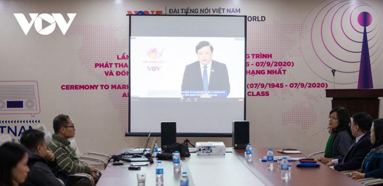 Tổng Giám đốc VOV Nguyễn Thế Kỷ phát biểu tại sự kiện.
