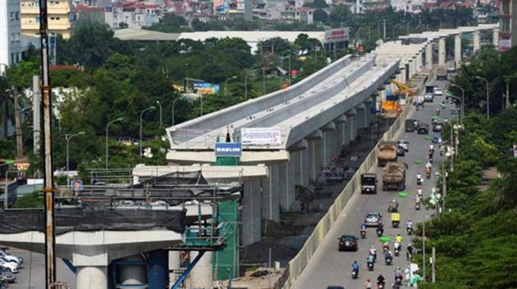 Theo thông tin từ Ban QLDA Đường sắt đô thị Hà Nội (MRB), đến đầu tháng 9/2019, đoạn trên cao dài 8,5km của tuyến đường sắt đô thị Nhổn - ga Hà Nội đã thi công xong phần kết cấu bê tông.