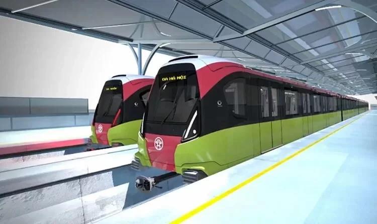 Hình dáng, màu sắc của đoàn tàu Metro Nhổn - ga Hà Nội trong tương lai.