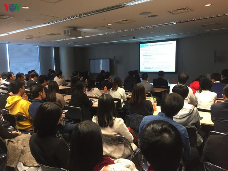 Du học snh Việt Nam tham gia Diễn đàn tri thức tổ chức vào tháng 11/2019 tại Tokyo.