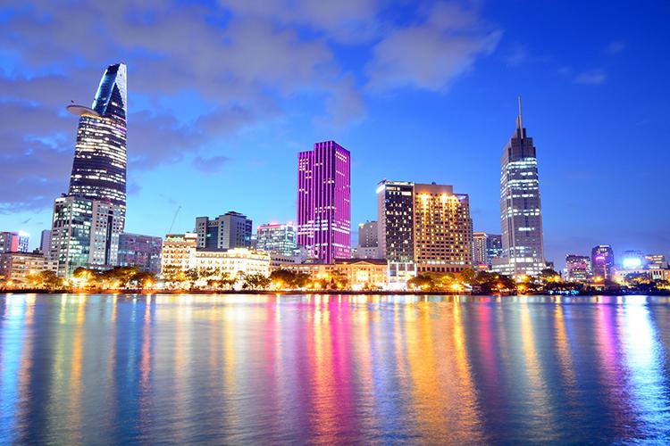 TP.HCM ngày nay là một thành phố năng động, phát triển bậc nhất cả nước.       Ảnh: P.V