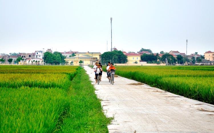Bộ mặt nông thôn mới Vĩnh Phúc ngày càng khang trang, hiện đại.