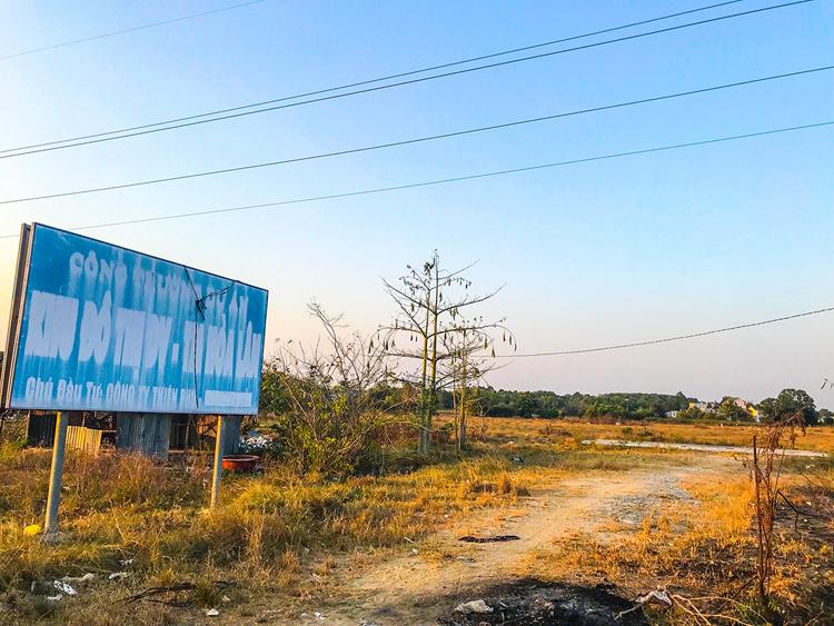 Khu đất dự án khu dân cư Hòa Lân.